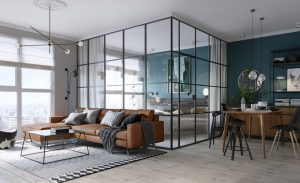 The Bedroom In This Kiev Apartment glass enclosed bedroom modern apartment 170517 923 01