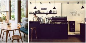 Coffeeshops And Cafes You Wish You Lived In 2. The black white and wood theme of One Fifteenth Coffee in Jakarta