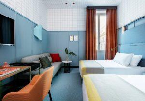 Patricia Urquiola thiết kế đầy màu sắc cho chuỗi khách sạn Room Mate ở MiLan patricia urquiola room mate hotels interior design milan dezeen 936 5 852x590