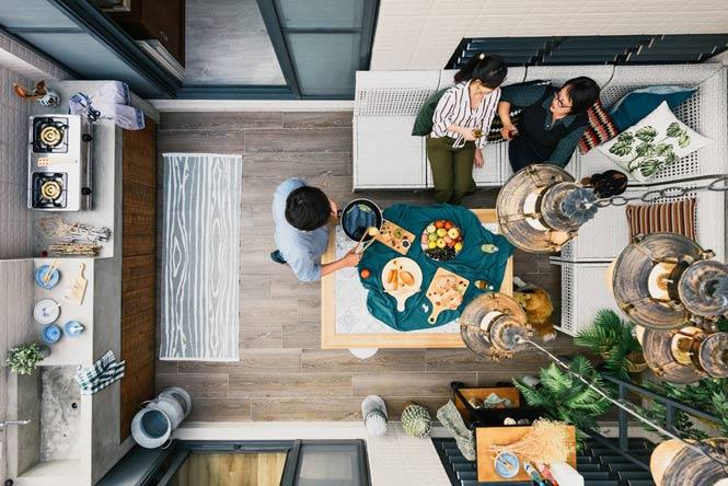 Ngôi nhà với thiết kế độc đáo dành cho gia đình có nhiều thế hệ thiet ke noi that can ho chung cu 15