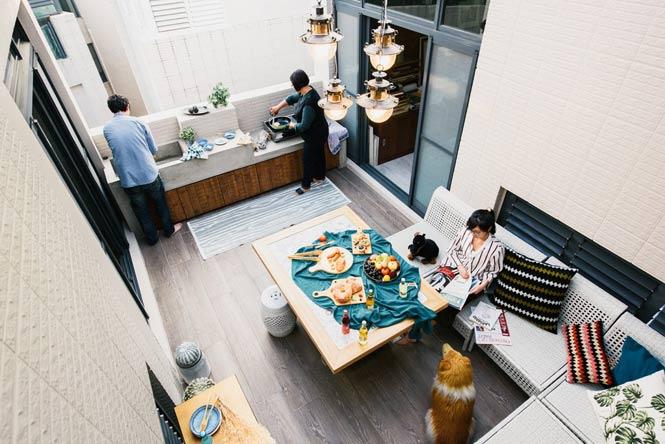 Ngôi nhà với thiết kế độc đáo dành cho gia đình có nhiều thế hệ thiet ke noi that can ho chung cu 17