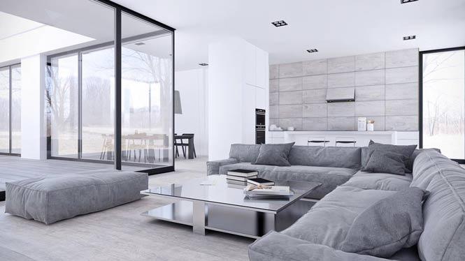 Thiết kế căn hộ thanh lịch và đơn giản với tông màu xám – trắng thiet ke noi that can ho toi gian 9