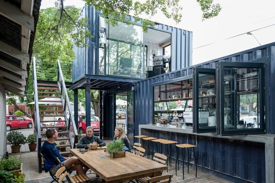 Những ý tưởng thiết kế quán cafe container cực hút khách 11
