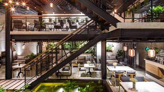 Tăng doanh thu quán cafe từ sự khác biệt trong phong cách thiết kế nội thất quan cafe dep 4
