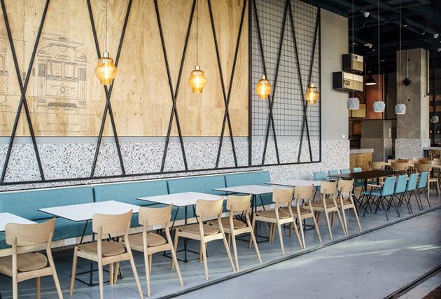 Thiết kế thi công nội thất nhà hàng thiet ke nha hang hien dai 10