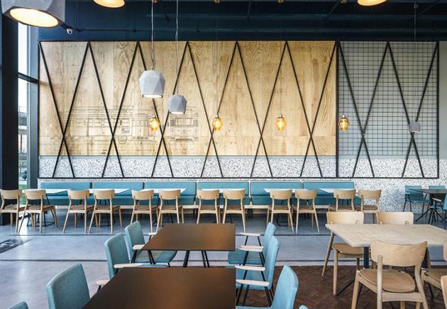 Thiết kế thi công nội thất nhà hàng thiet ke nha hang hien dai 2