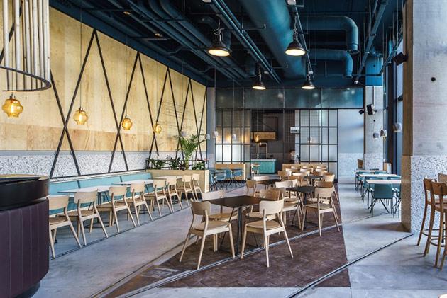 Thiết kế thi công nội thất nhà hàng thiet ke nha hang hien dai 4