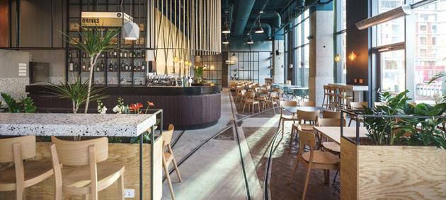 Thiết kế thi công nội thất nhà hàng thiet ke nha hang hien dai 6