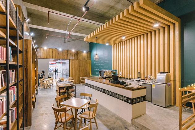 Fauno cafe by Dosde Espacios, Envigado – Colombia thiet ke noi that cafe sach 2