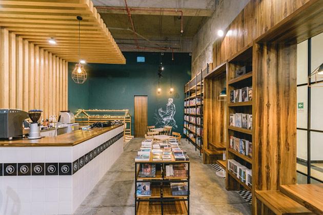 Fauno cafe by Dosde Espacios, Envigado – Colombia thiet ke noi that cafe sach 3