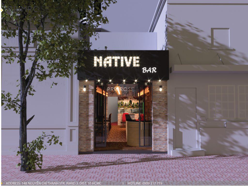 Native Bar – Huỳnh Thúc Kháng, Q.1, P.Bến Nghé, TP.HCM thiet ke noi that quan bar 1