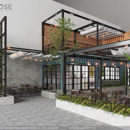Mik Tea Shop – Thiết kế quán cafe container