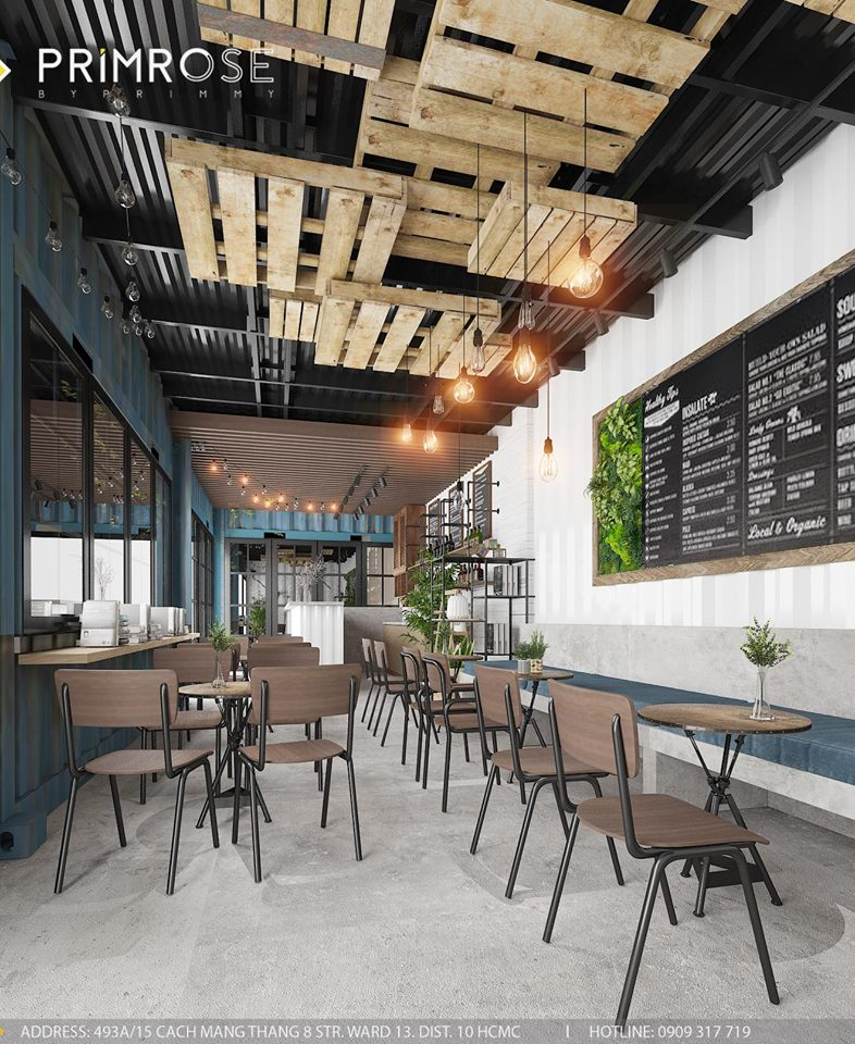 Mik Tea Shop - Thiết kế quán cafe container thiet ke quan cafe doc dao 8