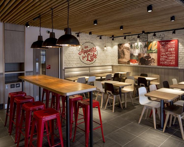 Thiết kế nhà hàng quán ăn nhanh KFC thiet ke nha hang an nhanh 3