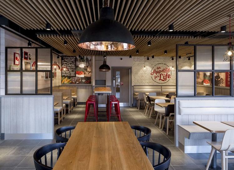 Thiết kế nội thất - Yếu tố quan trọng tạo nên thương hiệu chuỗi nhà hàng KFC thiet ke nha hang an nhanh