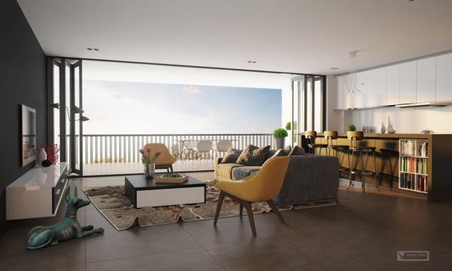Thiết kế nội thất căn hộ 100m2 ấn tượng thiet ke noi that chung cu 100m2 2