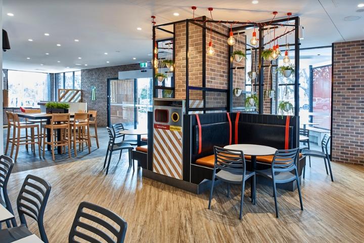 Thiết kế nội thất - Yếu tố quan trọng tạo nên thương hiệu chuỗi nhà hàng KFC thiet ke noi that nha hang an nhanh 2