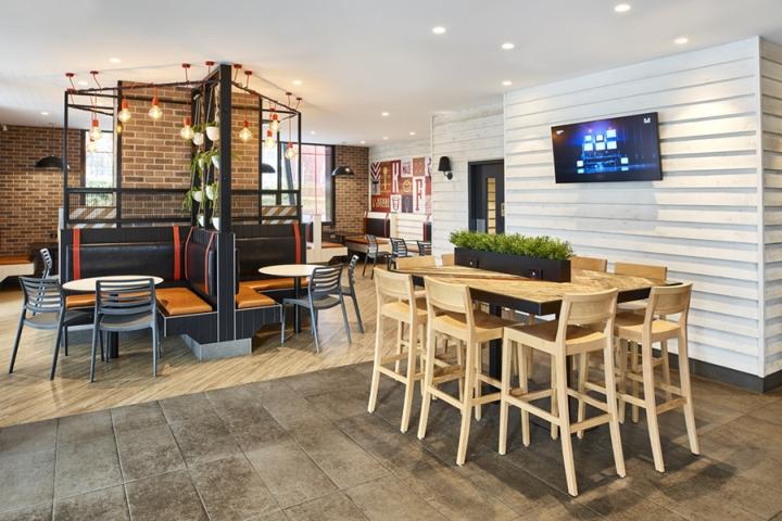 Thiết kế nội thất - Yếu tố quan trọng tạo nên thương hiệu chuỗi nhà hàng KFC thiet ke noi that nha hang an nhanh 3