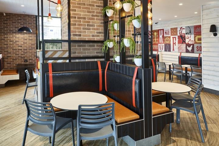 Thiết kế nội thất - Yếu tố quan trọng tạo nên thương hiệu chuỗi nhà hàng KFC thiet ke noi that nha hang an nhanh 4