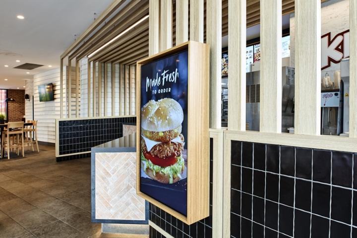 Thiết kế nội thất - Yếu tố quan trọng tạo nên thương hiệu chuỗi nhà hàng KFC thiet ke noi that nha hang an nhanh 6