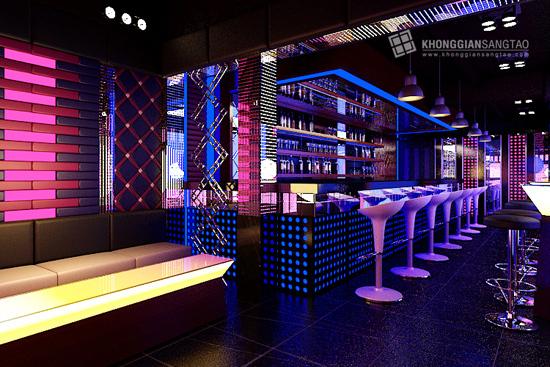 Thiết kế nội thất quán bar thiet ke noi that quan bar 4