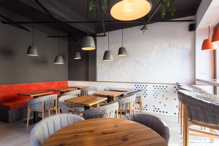 Ý tưởng thiết kế quán cafe độc đáo với nội thất gỗ ấm cúng thiet ke quan cafe noi that go 2