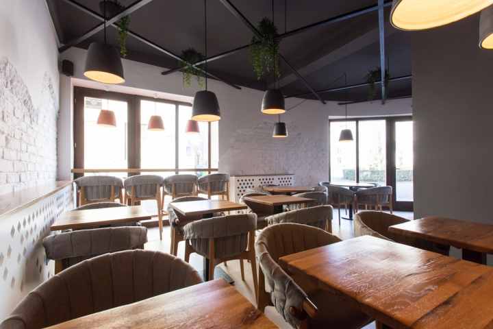 Ý tưởng thiết kế quán cafe độc đáo với nội thất gỗ ấm cúng thiet ke quan cafe noi that go 5