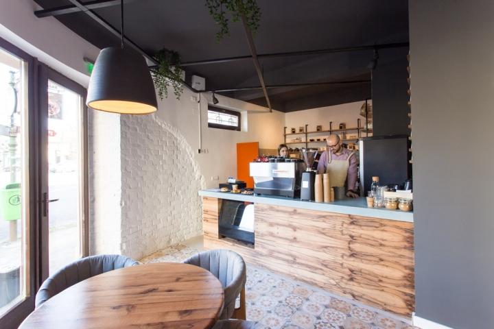 Ý tưởng thiết kế quán cafe độc đáo với nội thất gỗ ấm cúng thiet ke quan cafe noi that go 6