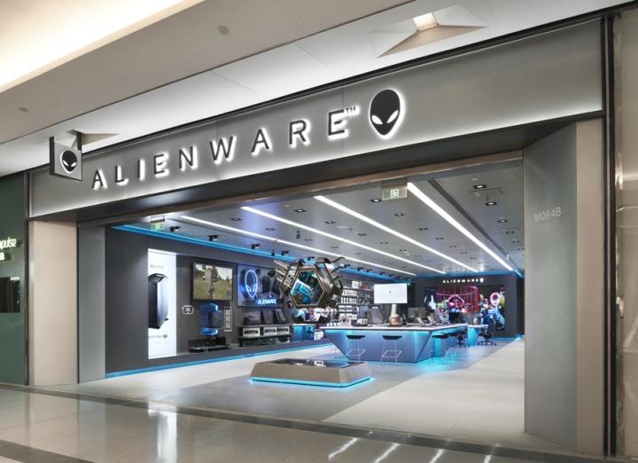 Nâng tầmthương hiệu với showroom máy tính được thiết kế hiện đại thiet ke showroom may tinh 1