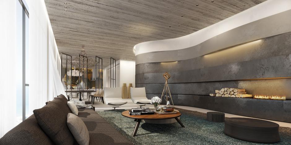 Dự án Ando Studio Penthouse Living Area