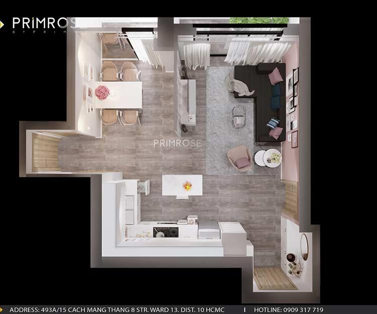 Thiết kế nội thất căn hộ chung cư Riva Park - Quận 4 bai tri noi that can ho