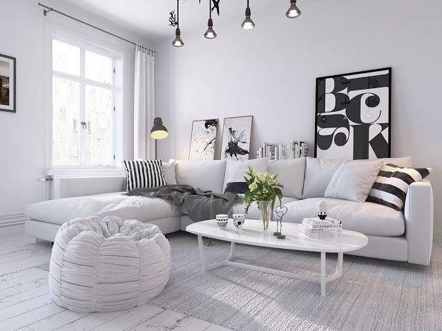 Dự án đã thực hiện black and white scandinavian home design