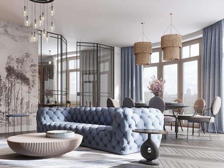 Thiết kế căn hộ phong cách hiện đại can ho phong cach hien dai 2