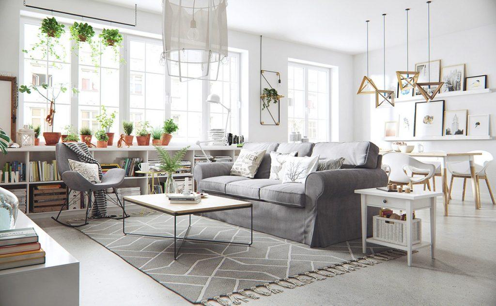 Thiết kế nội thất căn hộ phong cách Bắc Âu scandinavian inspired interior