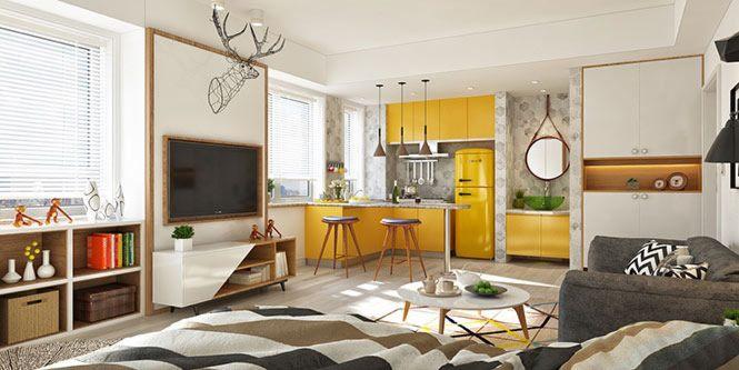 Thiết kế nội thất căn hộ phong cách Vintage thiet ke an tuong can ho vintage mang sac vang ruc ro1