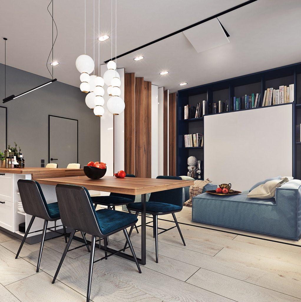 Thiết kế nội thất căn hộ phong cách Vintage thiet ke can ho vinhomes dep 1