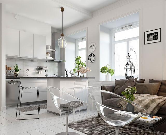 Thiết kế nội thất căn hộ phong cách Bắc Âu thiet ke noi that phong cach Bac Au 1