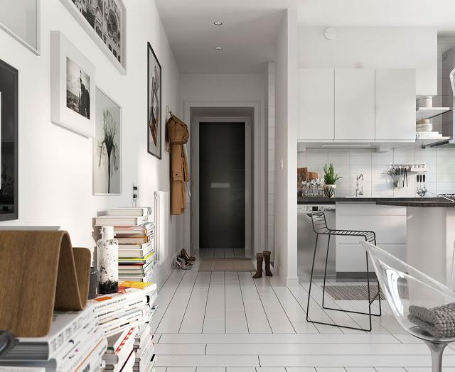 Thiết kế nội thất căn hộ phong cách Bắc Âu thiet ke noi that phong cach Bac Au 2