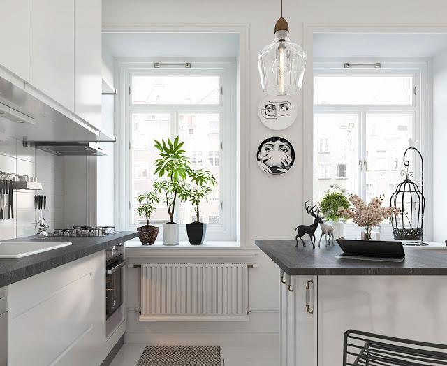 Thiết kế nội thất căn hộ phong cách Bắc Âu thiet ke noi that phong cach Bac Au 4