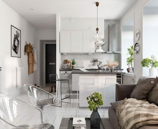 Thiết kế nội thất căn hộ phong cách Bắc Âu thiet ke noi that phong cach Bac Au 5