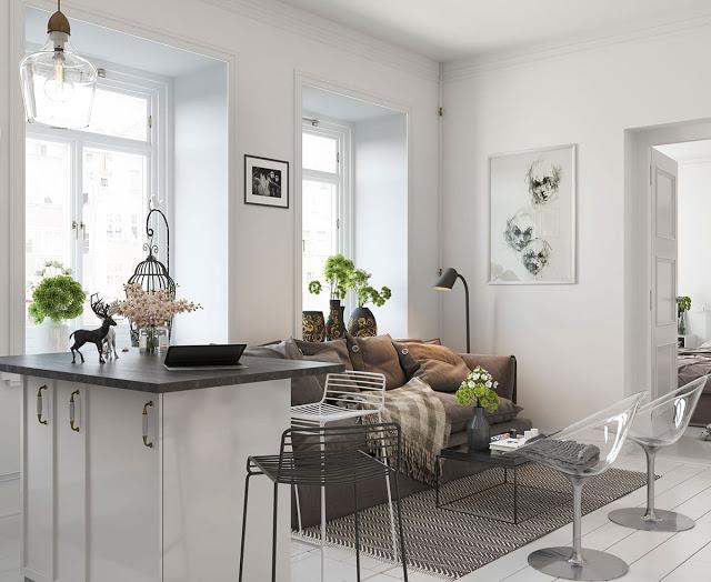 Thiết kế nội thất căn hộ phong cách Bắc Âu thiet ke noi that phong cach Bac Au 7