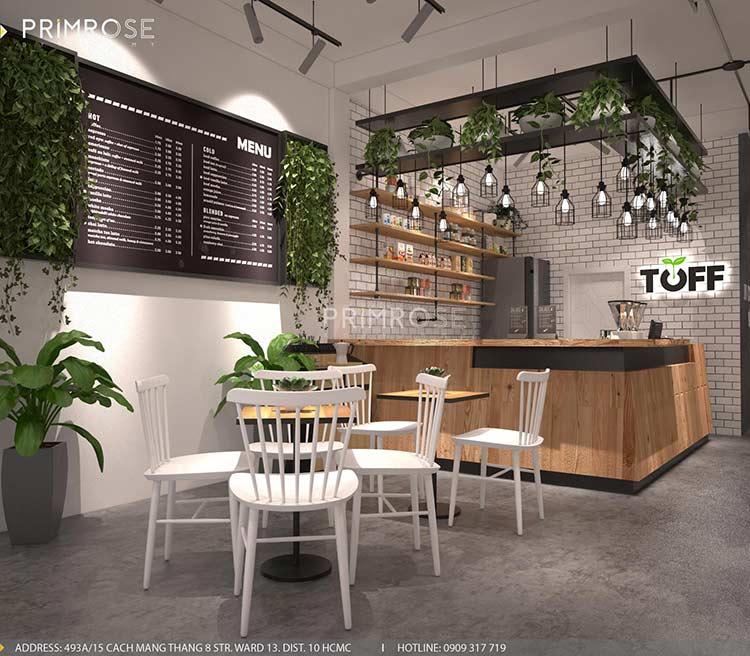 Toff Tea & Coffee - Phong cách quán trà sữa hiện đại thiet ke noi that quan cafe tra sua 10