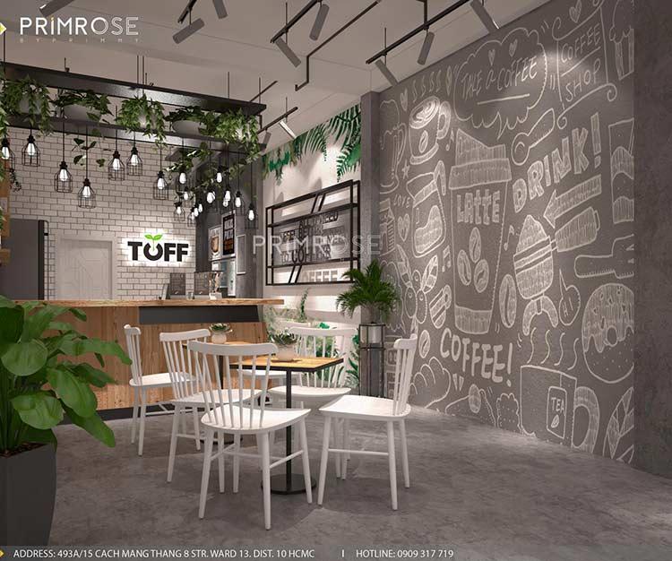 Toff Tea & Coffee - Phong cách quán trà sữa hiện đại thiet ke noi that quan cafe tra sua 9