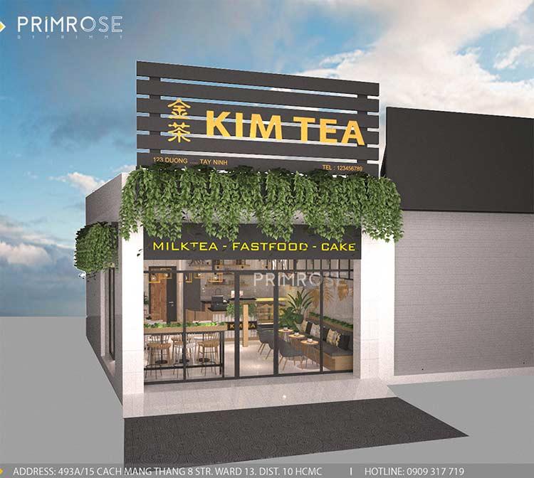 Hiện đại, phá cách với không gian quán trà sữa Kim Tea - Tây Ninh thiet ke noi that tra sua dep 3