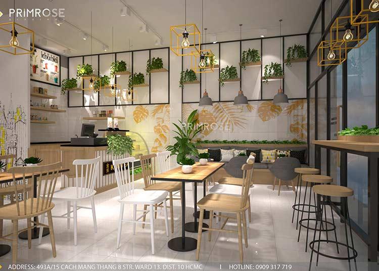 Hiện đại, phá cách với không gian quán trà sữa Kim Tea - Tây Ninh thiet ke noi that tra sua dep 6