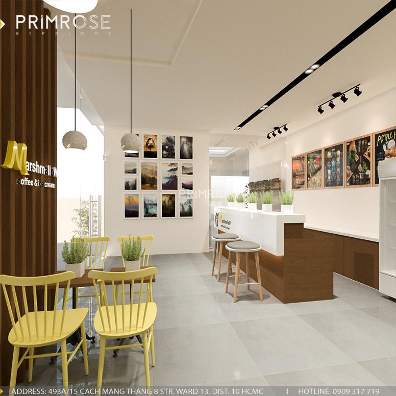 Marshmallow - Không gian quán cafe kem phá cách độc đáo với phong cách hiện đại thiet ke quan cafe kem1
