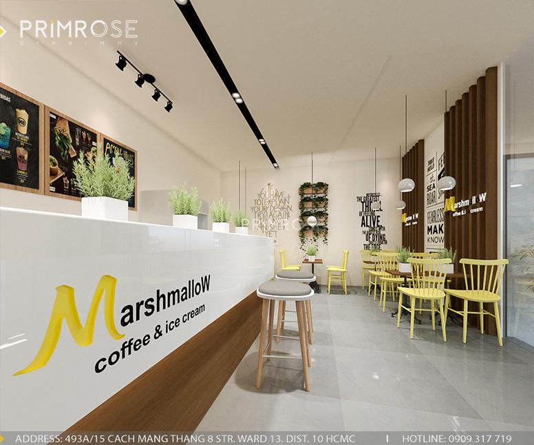 Marshmallow – Không gian quán cafe kem phá cách độc đáo với phong cách hiện đại