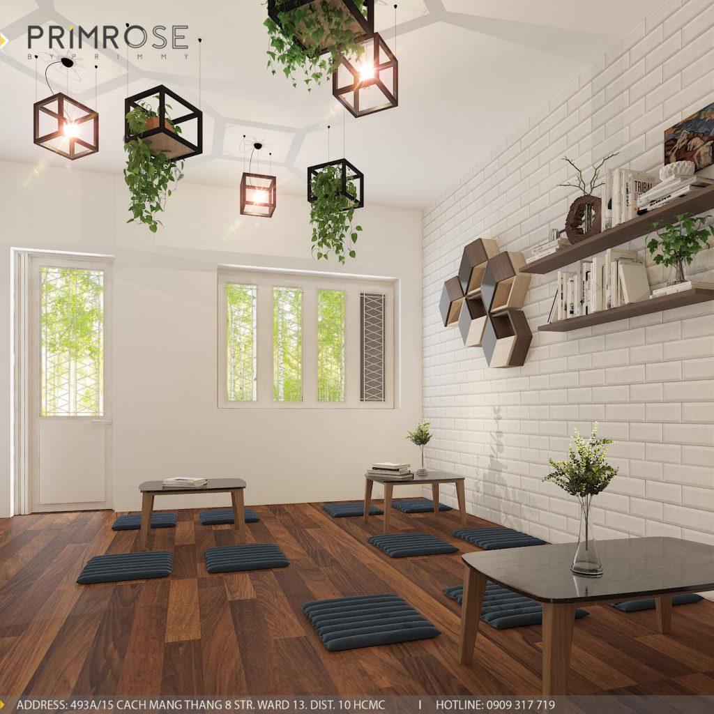 Thiết kế cafe văn phòng – Nguyễn Huy Tưởng, Bình Thạnh thiet ke quan cafe van phong 1