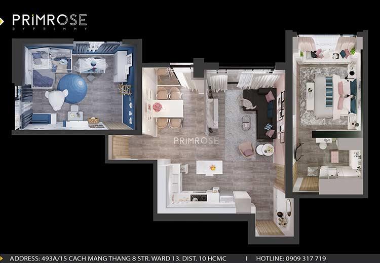 Thiết kế nội thất căn hộ chung cư Riva Park - Quận 4 tong quan can ho6