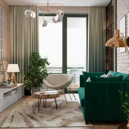 Căn hộ hiện đại phong cách Vintage ngập tràn sắc xanh